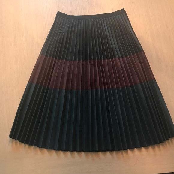 53dac1a4bd BCBGMaxAzria Dresses & Skirts - BCBGMAXAZRIA Elsa Pleated Faux-Leather Skirt